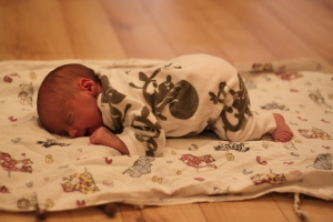 I love tummy time (but sometimes I fall asleep...which kind of defeats the purpose.)