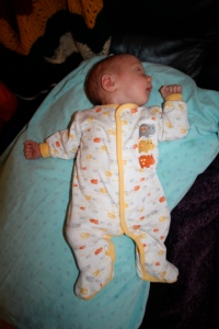My favourite sleeping position: satisfied and drunk on milk...for at least 20 minutes anyway!