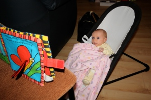 I'm one month old and I can read already...well sort of ;)