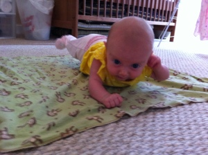 """Super baby"" at tummy time!"