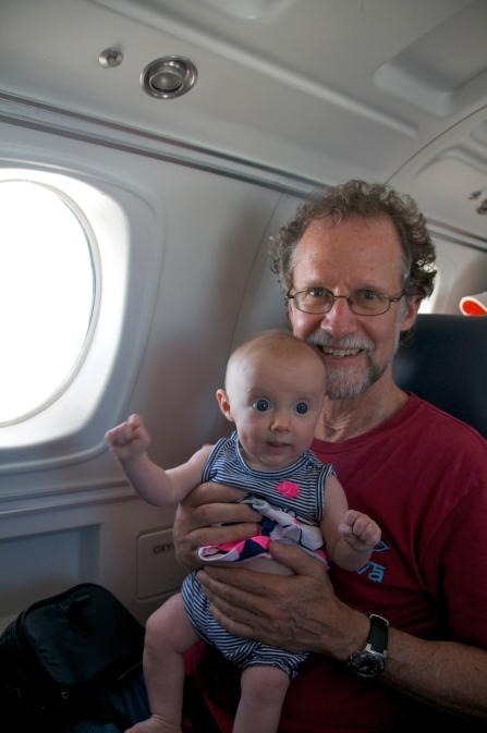 With Grandpa on my first plane ride. This is really exciting...
