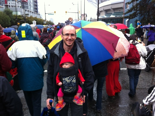 Braving Vancouver rains to do the Walk for Reconciliation