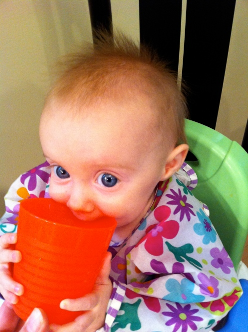 Learning to drink from a cup is harder than it looks.