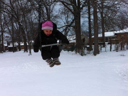 Sarnia's colder but the swing is still rules!