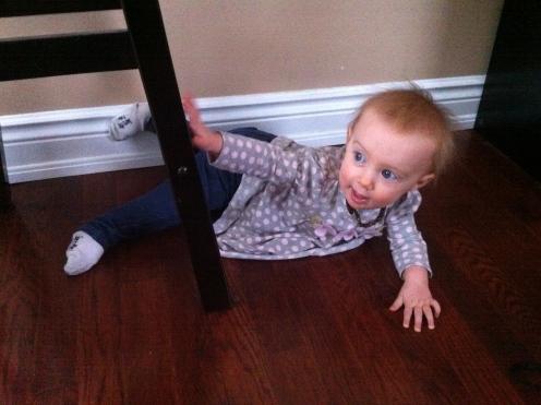 Baby yoga.