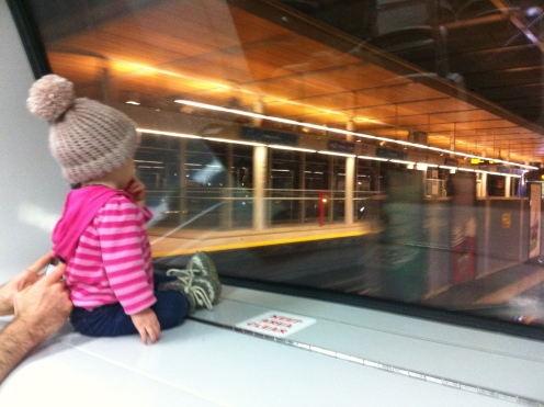 Driving the skytrain.