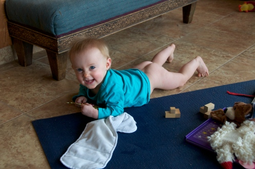 Diaper-free time never gets old.