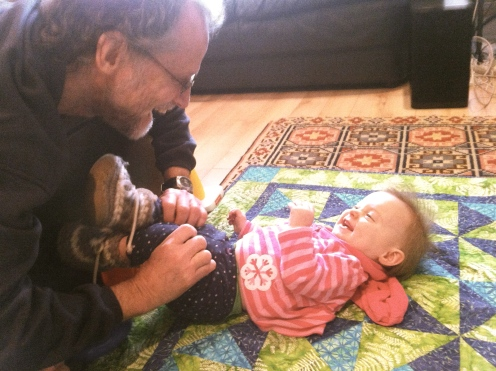 Snuggles with Grandpa